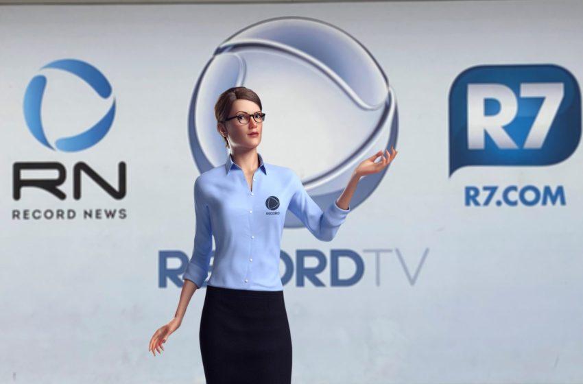 Record TV lança a primeira assistente virtual da televisão brasileira