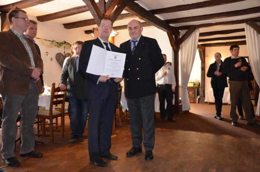Thomas Camman zum Ehrenortsbrandmeister ernannt