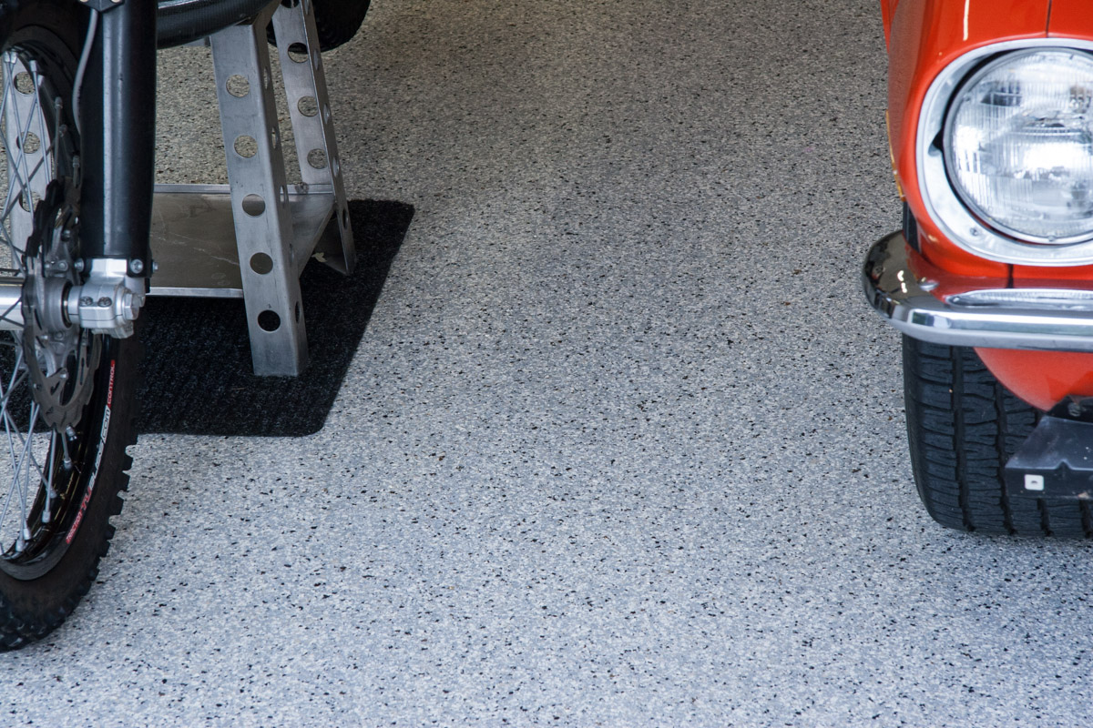 Utah Garage Epoxy Floor Coating - Cottonwood Heights 3 Car Garage - Floor Detail