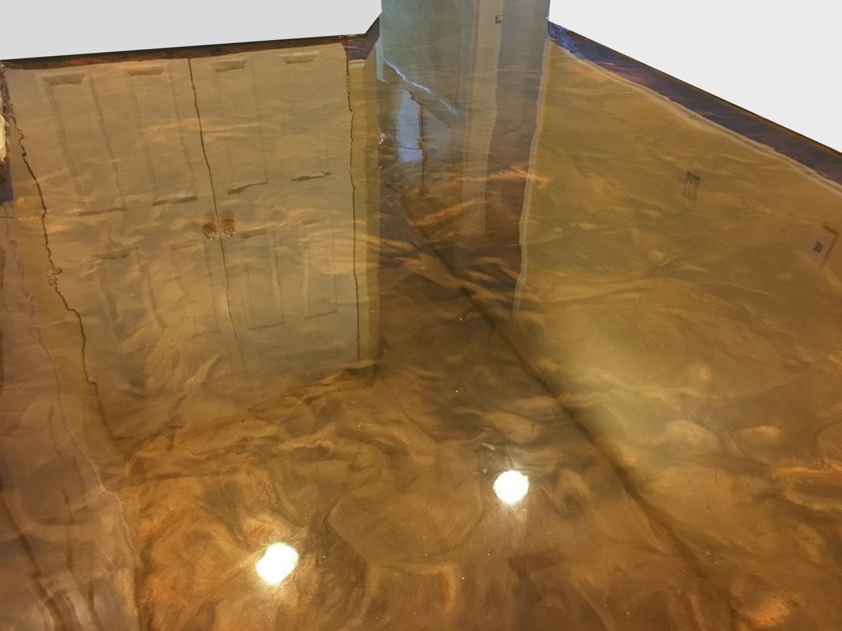 reflector metallic epoxy floor