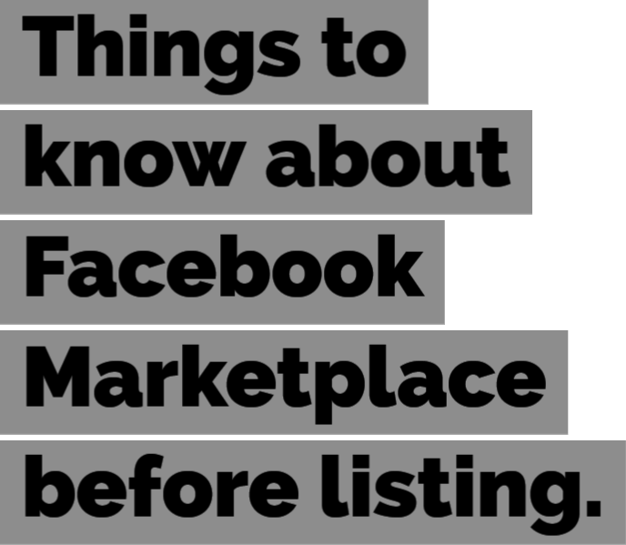 What you need to know about Facebook Marketplace