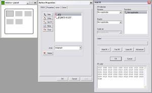 Τα panels του ProntoEdit με τον hex code στα δεξιά
