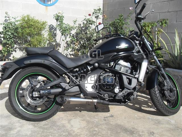 endy silencer for kawasaki vulcan s 650 cc abs 14 20 full exhaust system brutale