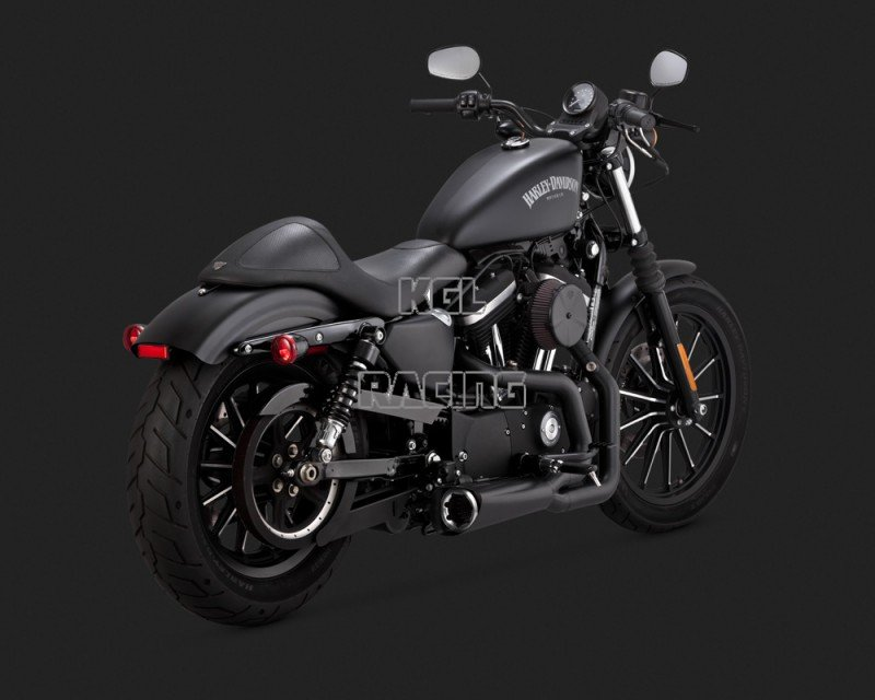 vance hines harley davidson sportster 16 exhaust 2 into 1 competition series