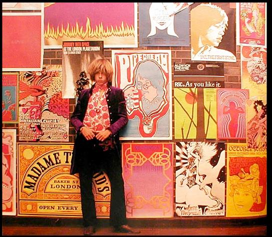 Wall of music posters