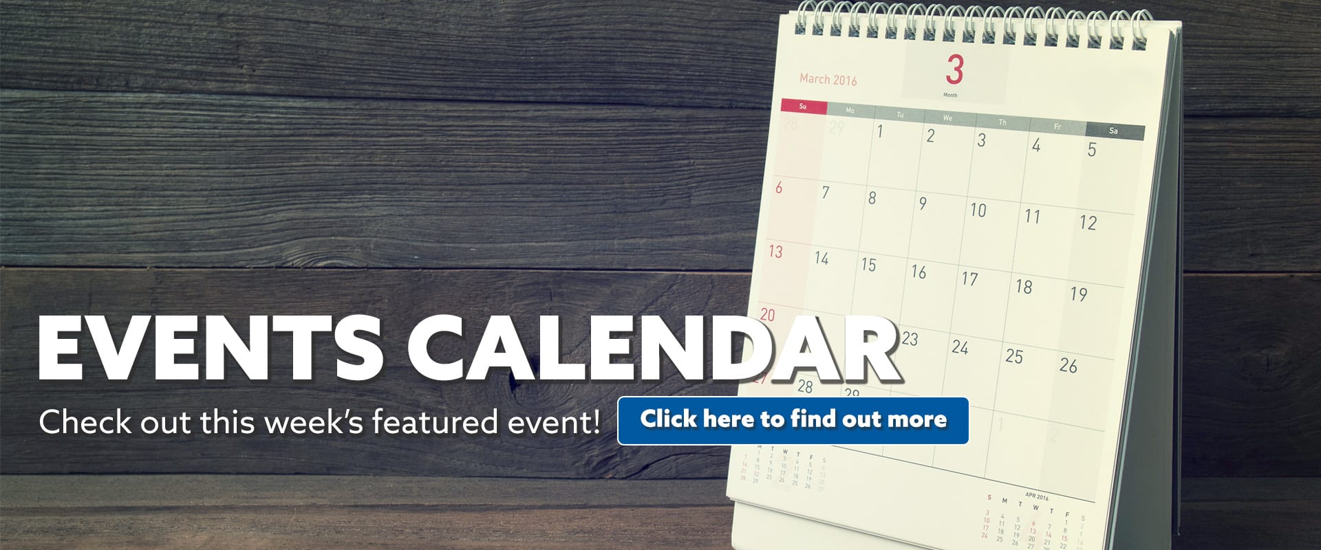 Events Calendar Featured Event KGLY1