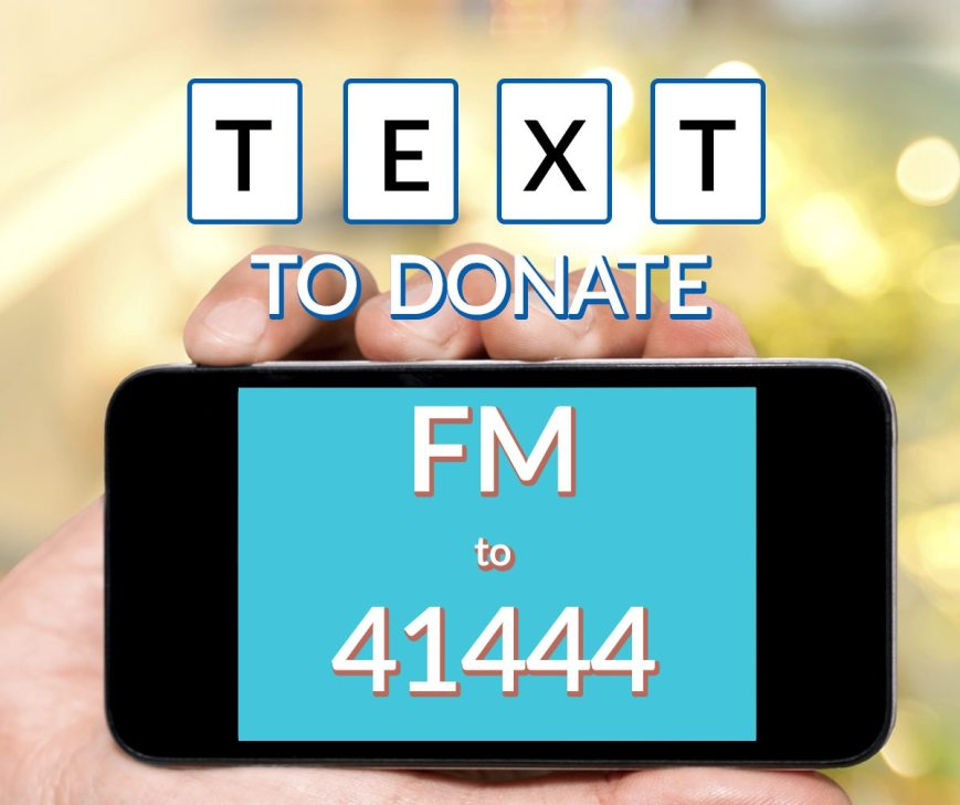91.3 KGLY Text to Donate