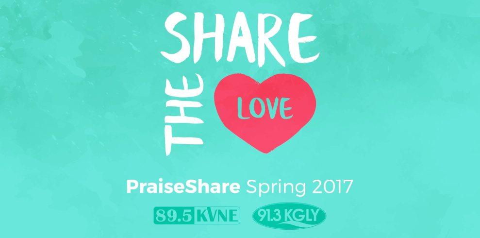 91.3 KGLY East Texas Christian Radio Share the Love Countdown Challenge 2017 Spring PraiseShare