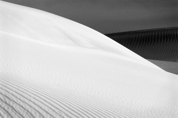 131126_Mesquite Dunes - First Light B&W by Karl G. Graf.