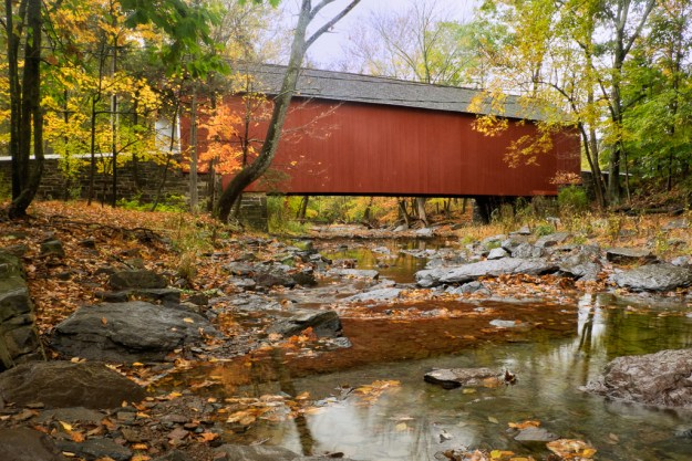 141016_Cabin Run Covered Bridge by .