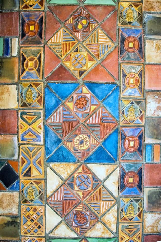 Mercer Experimental Tiles, Yellow Room Stairway by Karl Graf.