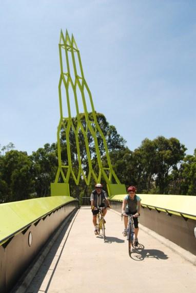 Colourful bridge on the EastLink Trail