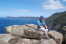 Rest break on Tasman Peninsula