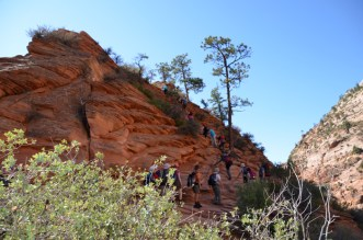 The final climb to Angels Landing