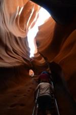 Entering Antelope Canyon