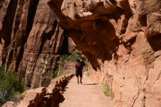 Steep downhill on Angels Landing hike