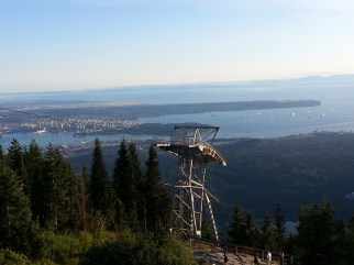 View of Vancouver from the top of Grouse Mountain.