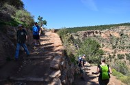 Setting off on the Bright Angel Trail