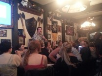 Ryan Curtis and fans at Storm Crow Tavern.