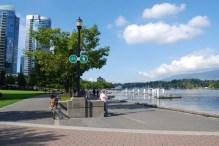 Bike path along the waterfront