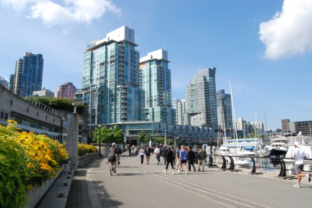 Cycling at Coal Harbour