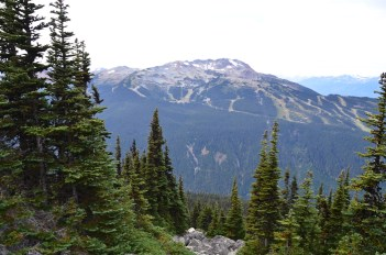 View of Whistler Moutain from Blackcomb Mountain