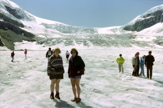 Walking on Athabasca Glacier in Canada