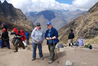 Reaching the highest point of the Inca Trail in Peru