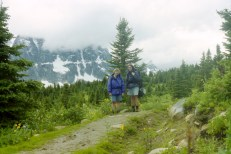 Backcountry hiking in Jasper National Park