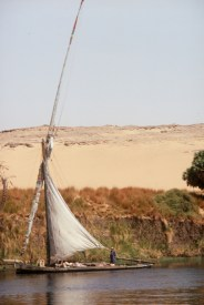 Sailing in a felucca in Egypt