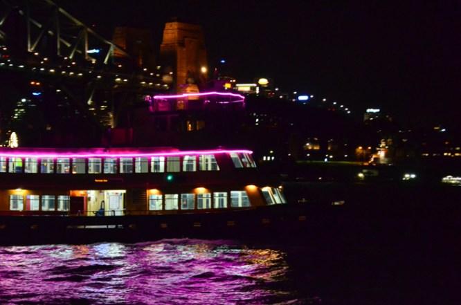 Ferry during Vivid Sydney