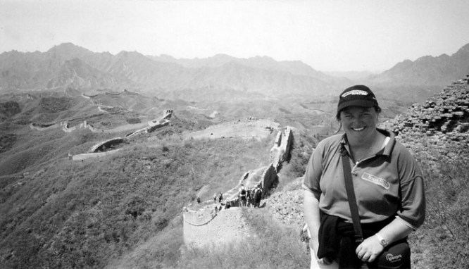 Karen on the Great Wall of China