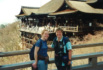 Karen and Jenni at Kiyomizu-dera Temple