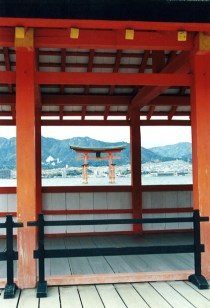 Floating torii gate from Itsukushima Shrine