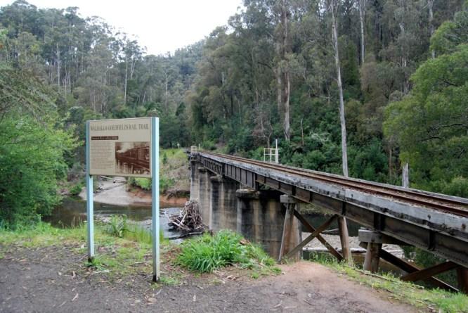 Trestle bridge that the tourist bridge crosses just outside Thomson station