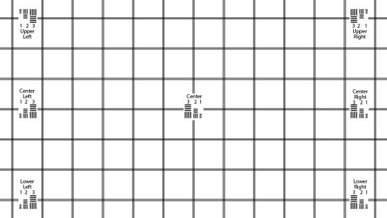 1280x720 KGOnTech Test Chart