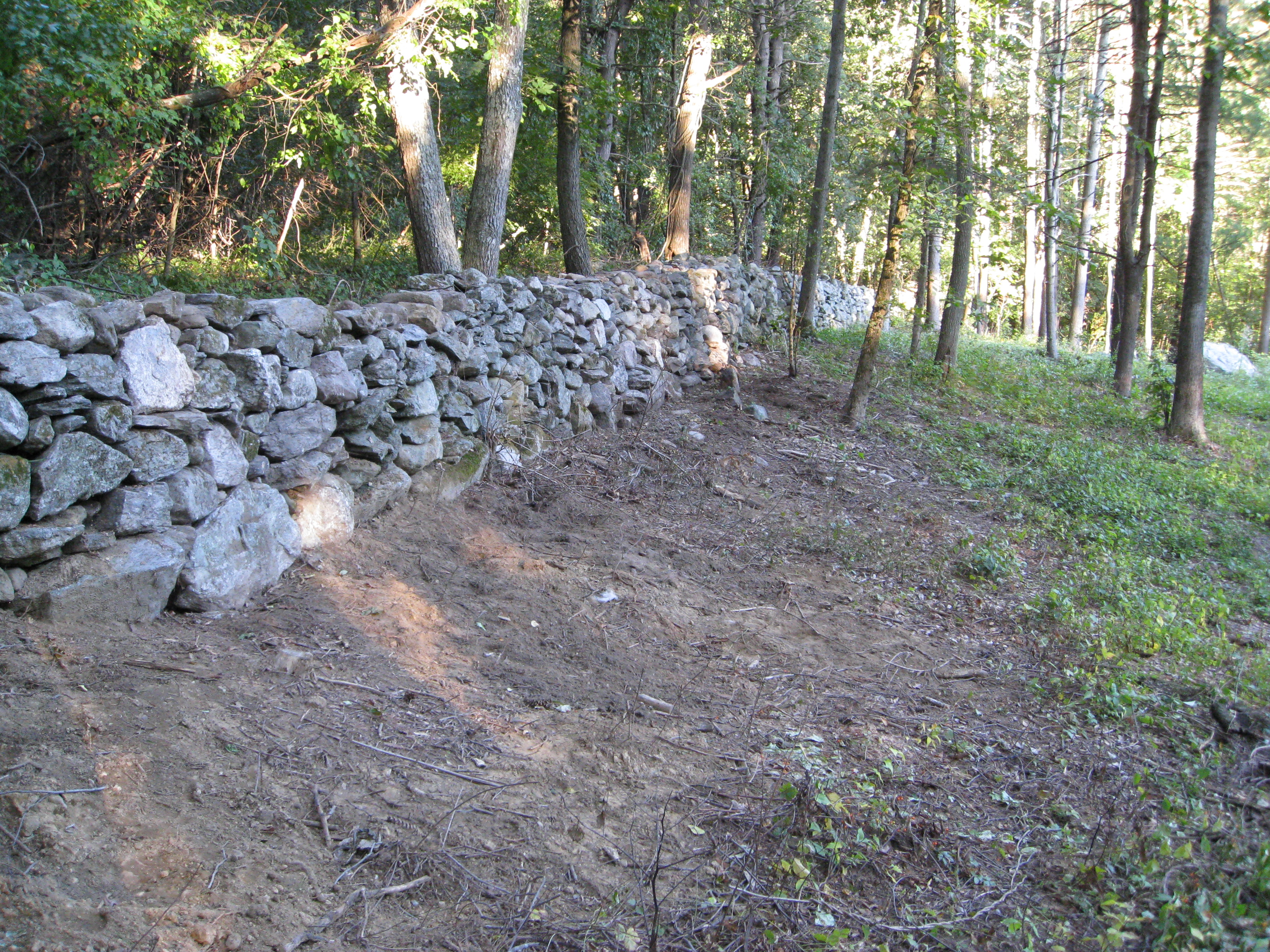 Repairing and OLD farmers wall