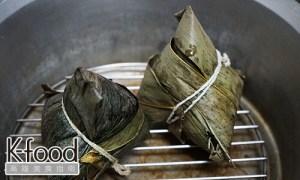 《龐家肉粽》電鍋加熱