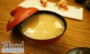《義郎創作壽司》海帶芽味噌湯