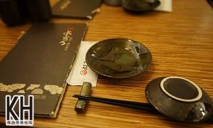 《義郎創作壽司》菜單與餐具