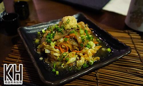 《酒樂》薑燒青菜豬肉