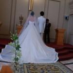 デンファレ 結婚式のチャペルにて