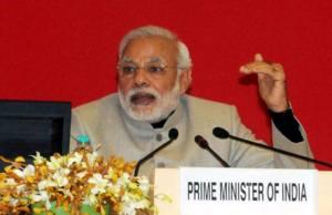 सोमार 29 दिसंबर का दिने नयी दिल्ली में 'मेक इन इंडिया' कार्यशाला के संबोधित करत पीएम मोदी.