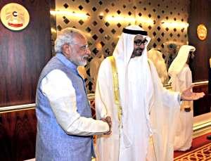 आबूधाबी के क्राउन प्रिंस आ भारत के प्रधानमंत्री