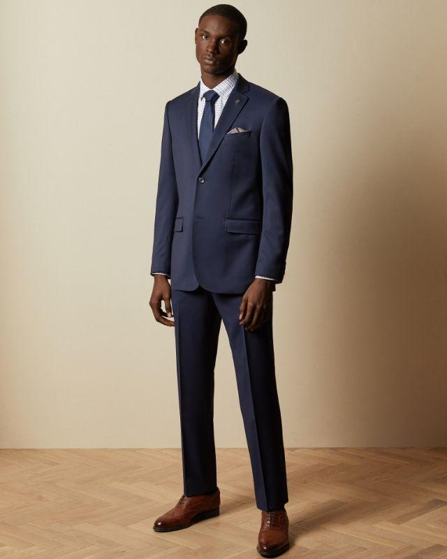 FRANRJ - Regular fit Debonair wool suit jacket Navy