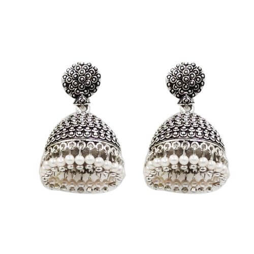 MOHNISH CREATION Fashion Jewellery Oxidized Silver Stylish Fancy Party Wear Traditional Earring For Women Girls