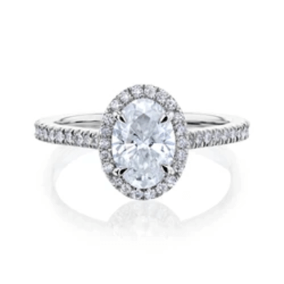 THE FRANKIE OVAL HALO DIAMOND RING
