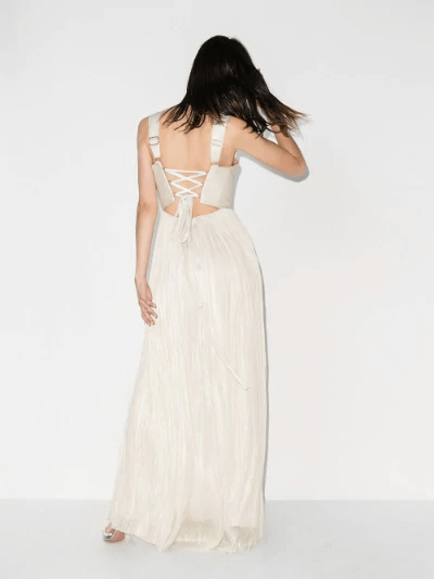 Velika Pleated Silk Gown