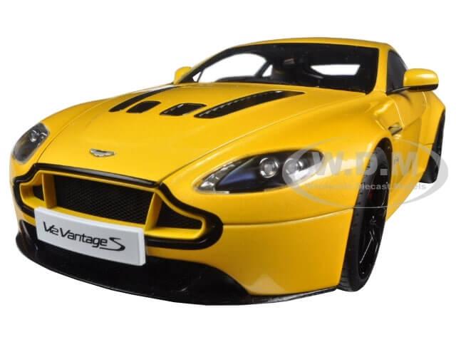 2015 Aston Martin V12 Vantage S Yellow Tang 1-18 Diecast Model Car by Autoart