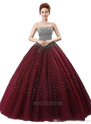2017 Real Photo Ruffles Long Ball Gown Two Pieces Quinceanera Dresses with Organza Beaded Plus Size Prom Pageant Debutante Party Gown BM09